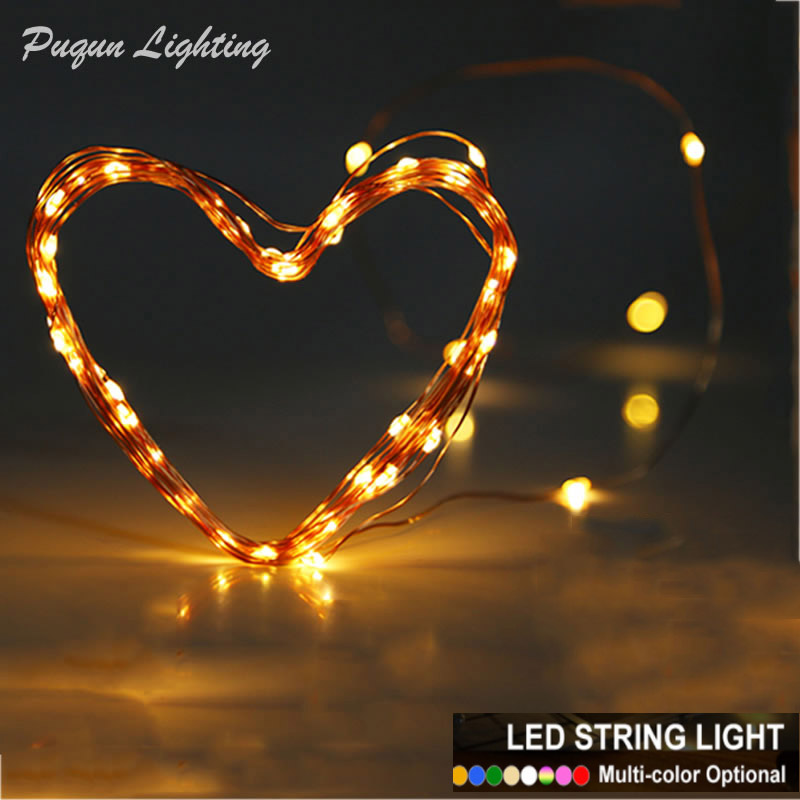 2m 3m 5m 10m Varmvitt Vit LED Kopparsträng Fairy Light Christmas - Festlig belysning