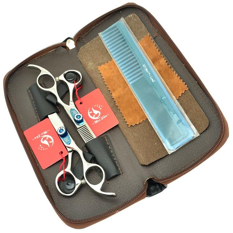 Meisha 6.0Inch Professional Hair Scissors Set Barbers Hair Cutting Scissors Thinning Shears Salon Hair Styling Equipment HA0249