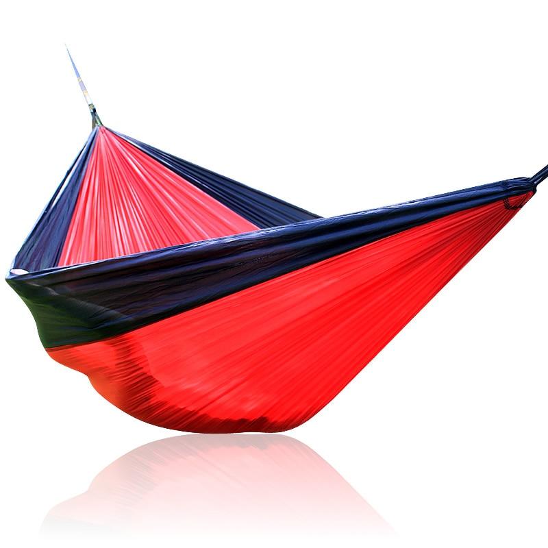Black Red Black Nylon Hammock SIZE 300*200CM Outdoor Furniture Loading 380kg 210T Nylon Parachute cloth недорого