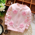 2016 Spring Autumn  Baby Babi Printed Flower Girls Princess Long Sleeved Outwear Coat Jackets Cardigan Kid's Coats  S2715