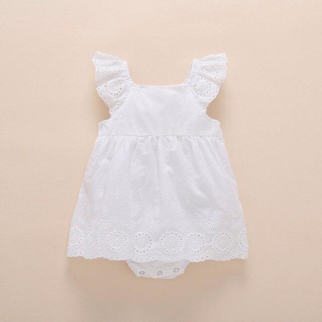Bé gái sinh nhật Đầm 1 năm cho bé quần áo bé gái mùa hè 2018 tay phồng sơ sinh áo công chúa và cưới Đầm Vestido infantil