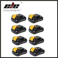 Eleoption 8 PCS Replacement Power Tool Battery For Dewalt 12V 2 0Ah 2000mah MAX Li Ion
