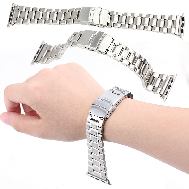 For Apple Watch Band Premium Stainless Steel Wrist Strap Link Bracelet With Adapter Connector 22mm 24mm