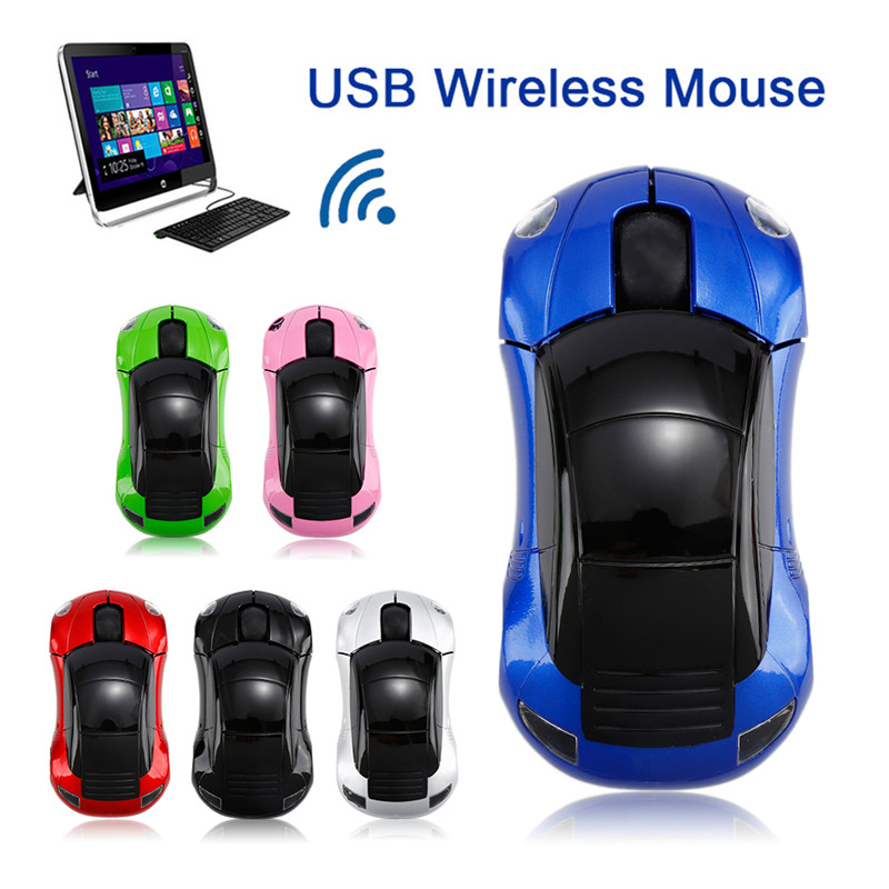 PC Laptop Computer Accessories Wireless Mouse Fashion Super Car Shaped Mouse 2.4Ghz Optical Mouse Free Shipping