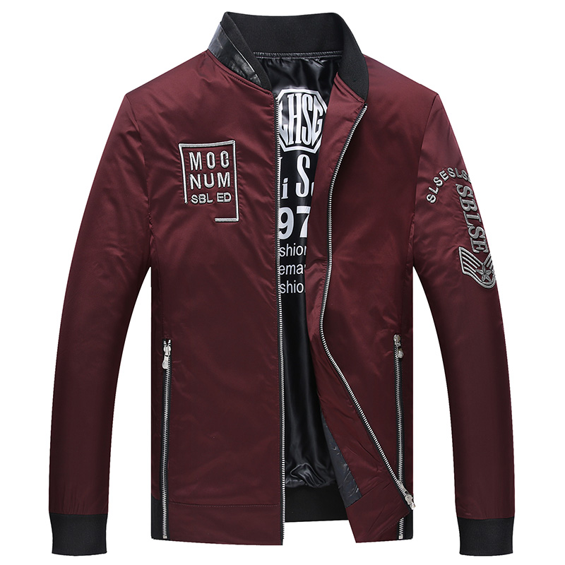 red Black Masculina Automne Longues 2018 De Mode Casual Fit Nouveautés Veste Hommes Mandarin Col Slim Vestes Manches anwqZtv4