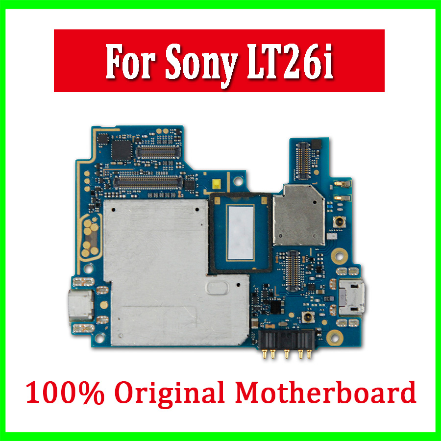 US $19 0 |For Sony Xperia S LT26i Motherboard with Full Chips,100% Original  unlocked for Sony Xperia S LT26i Logic boards,Free Shipping-in Mobile