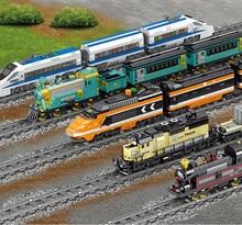 2019 novo trem da cidade de carga de trem ferroviário com faixas conjunto modelo técnica blocos de construção brinquedos presente para as crianças natal
