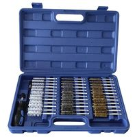 New 38Pcs Tube Brush Inner Wall Cleaning Brush Replaceable Brush Head Handle Tool Engine Wire Brush Cleaning Kit