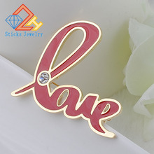 The new classical European and American personalized love letter Love drip brooch, free shipping