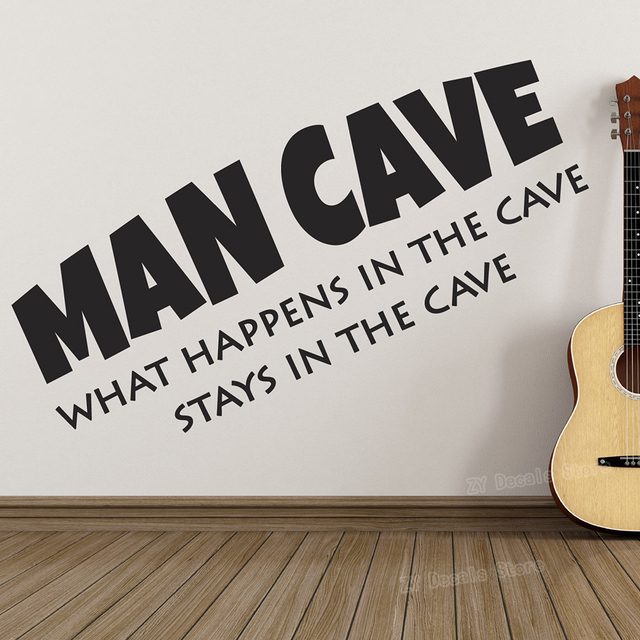 """""""What Happens In The Cave Stays In The Cave"""" Wall Stickers"""