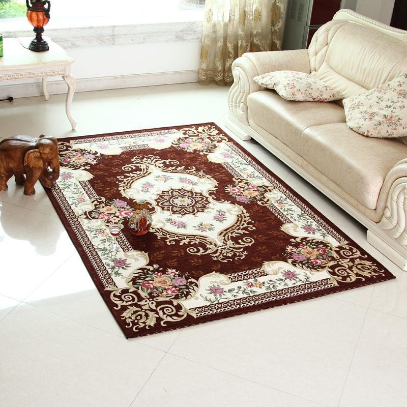 SunnyRain Classical Machine Jacquard Red Carpet Area Rug For ...