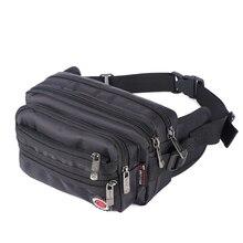 2017 new High quality nylon men's multifunction travel bags funny chest pack men waist pack men waist bag 98011