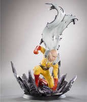 New 10 Anime One Punch Man Saitama Broken Ground Ver. Boxed 24cm PVC Action Figure Collection Model Doll Toy Gift