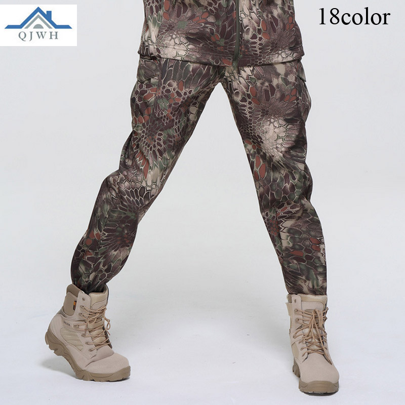 High Quality 2020 Winter Outdoors men Fleece Soft Shell Sweat Waterproof Breathable TAD Tactical Army Baggy Camouflage Pants Men|camouflage pants men|camouflage pants|pants men - title=