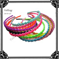 Newest plastic hair band   flower headband with teeth 50pcs/lot free shipping