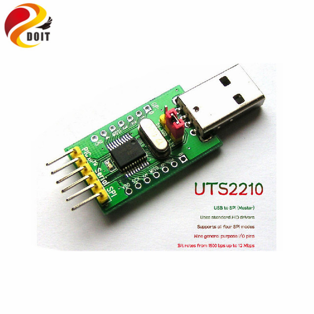 US $27 22 |Official DOIT UTS2210 USB to SPI Master HID MCP2210 Converter  Adapter GPIO DIY RC Electronic Toy Robot Development Board MCU UNO-in
