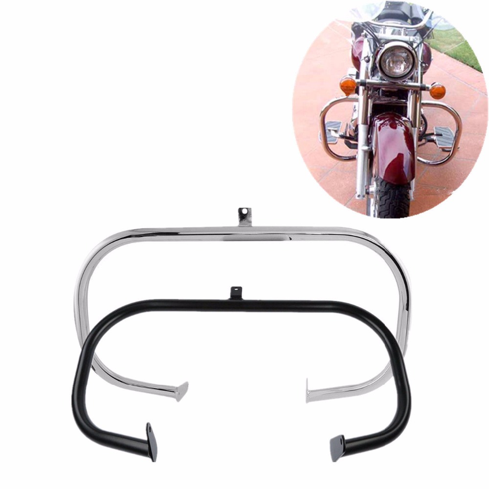 "Motorcycle 1 1/4"" Highway Engine Guard Crash Bar For Honda Shadow Aero VT750 VT750C VT400 2004 2011-in Covers & Ornamental Mouldings from Automobiles & Motorcycles"
