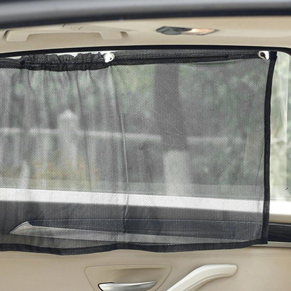 2 шт. 70x42 см Автомобильная Солнцезащитная сторона нейлоновая сетчатая оконная занавеска черная Солнцезащитная УФ защита автомобильная занавеска автомобильные аксессуары|Занавески для боковых окон|   | АлиЭкспресс