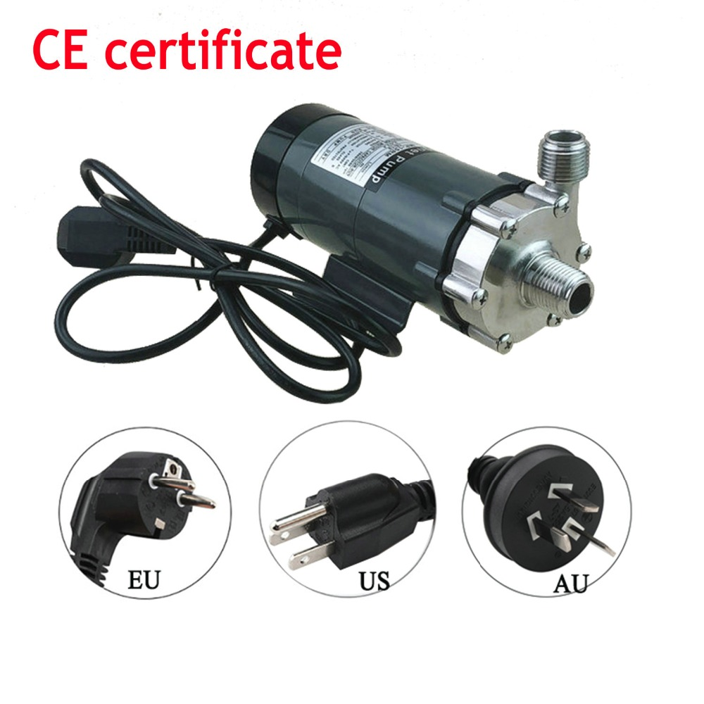 HomeBrew Pump MP 15R Food Grade 304 Stainless Steel Brewing Home brew 110V/220V Magnetic Water Pump Temperature 140C 1/2 1/2