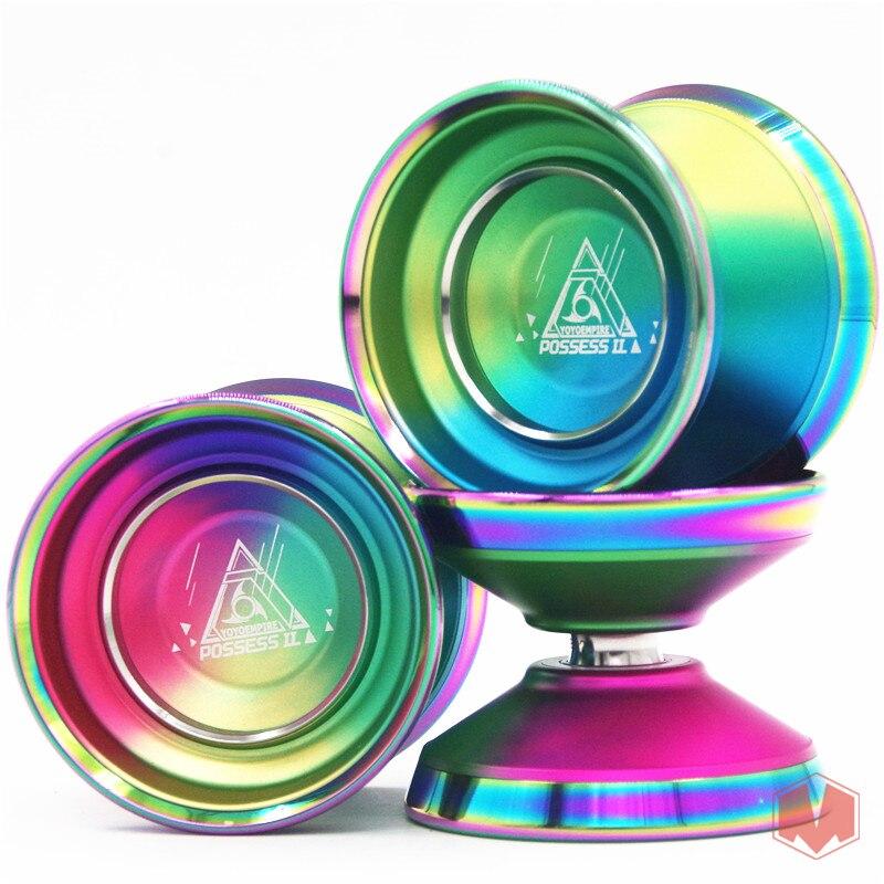 Nouveau Arrivent EMPIRE 7075 Possèdent II YOYO Bimétallique anneau Coloré yo-yo en métal Yoyo pour Professionnel yo-yo lecteur Grand cadeau