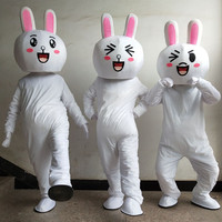 New cosplay costumes Cakes Professional Easter Bunny Mascot costume Bugs Rabbit Hare Easter Adult Mascot