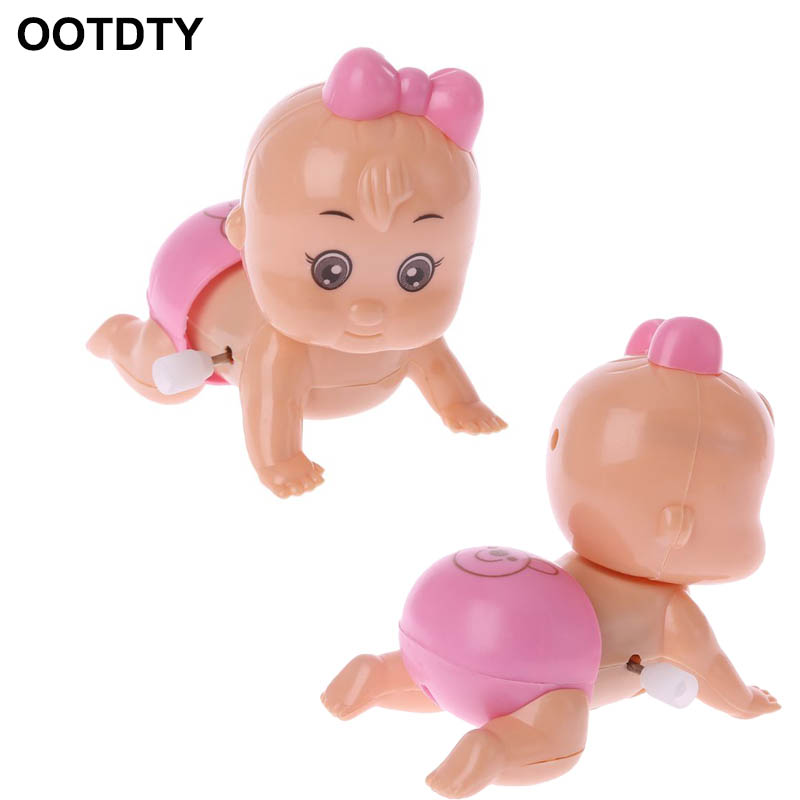 Twist Ass Baby Crawling Crawl Doll Clockwork Doll Wind Up Toy For Boy Girl Party Gift Random Delivery