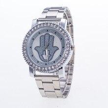 Fashion Casual Silver Women's Quartz Wristwatches Luxury Women's Bracelet Watch Relogio Feminino Golden Palm Clock Reloj Mujer