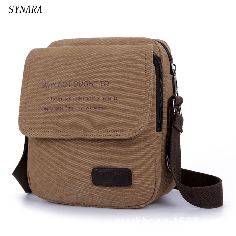 men's travel bags simple Canvas bag fashion men messenger bags high quality brand bolsa feminina shoulder bags aosbos fashion portable insulated canvas lunch bag thermal food picnic lunch bags for women kids men cooler lunch box bag tote
