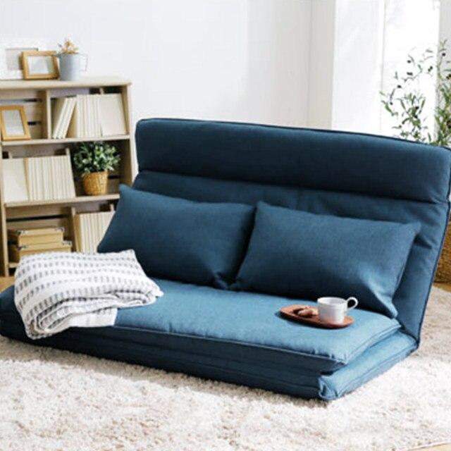 Nice Living Room Futon Chair Sofa Bed Furniture Japanese Floor Legless Modern  Fashion Leisure Fabric Reclining Futon Sofa Chair Bed