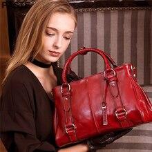 PASTE Brand 100 genuine leather Lady Handbag Women Vintage Shoulder Bags Casual crossbody Tote Bags Sac