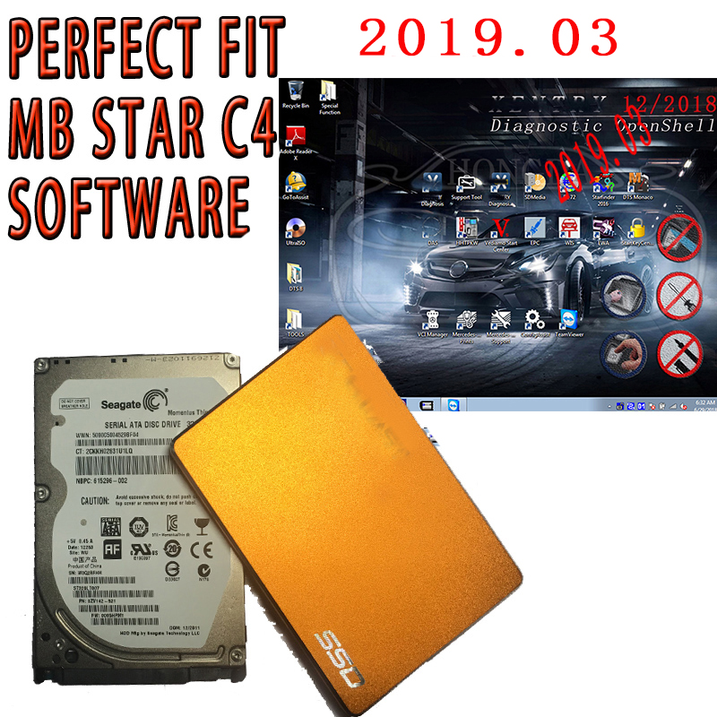 High Quality full software to Mb Star C4 C5 SD Connect with HDD SDD 07 2019V