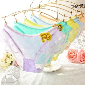 Candy Color Gauze Flounces Japanese Cute Briefs 1