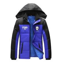 Мужская Теплая Куртка Плюс Размер 4XL Человек Ветровка jaqueta куртка пальто с Капюшоном Руно Куртки Зимние мужчин Вниз Парки