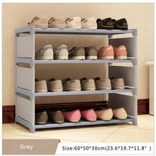 цена на Shoes Rack Organizer Shelf 4-Tier Shoe Tower Shelf Storage Cabinet Nonwoven Shelf
