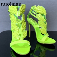 Brand Shoes Woman Leaf Flame High Heels Zapatos Mujer Womens Platform Pumps Women Sandals Summer Party Wedding Shoes Peep Toe