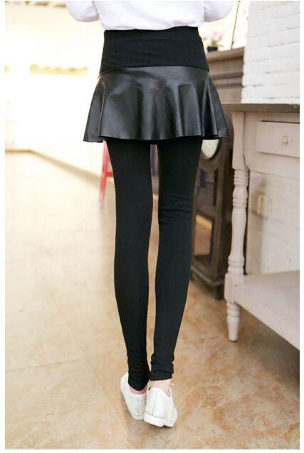 pu skirt legging 1