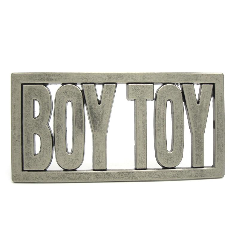 Boy toy belt buckle