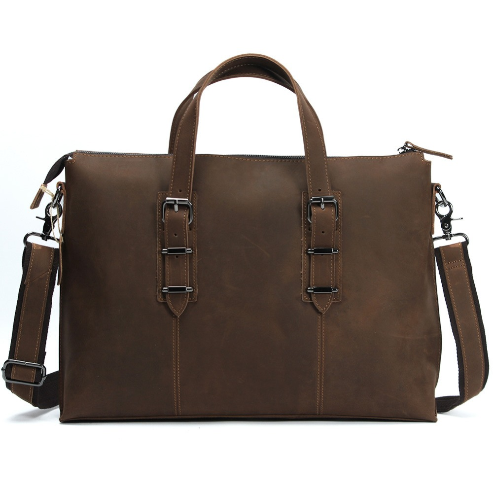 Mens genuine leather laptop case computer bag handbag cowhide leather A4 shoulder bag messenger bag briefcase bag 14inch LD3362 new 3u ultra short computer case 380mm large panel big power supply ultra short 3u computer case server computer case