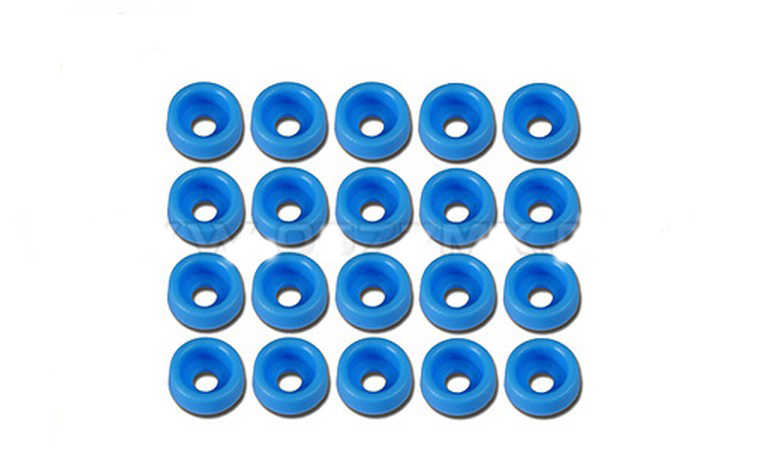 F07296 Tarot 20 Pcs M2 Spacer Washer TL2818-01 Blue for GB Screws RC Helicopters Parts