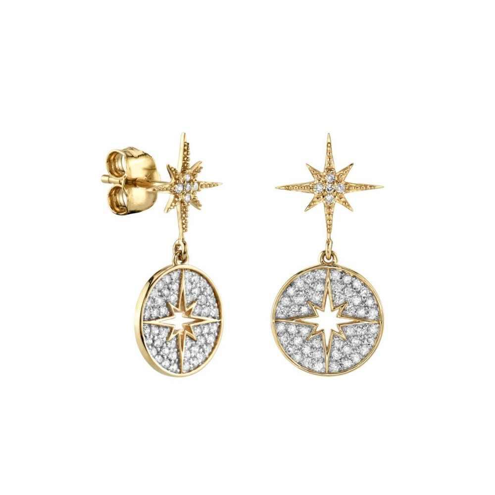 2019 moda klasyczna cz okrągły gwiazda cut kolczyki kobiety moda koreański styl pusta siatka spadek biżuteria kolczyki w stylu statement