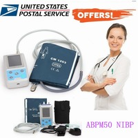ABPM50 Ambulatory Blood Pressure Monitor NIBP Holter with Free Adult Cuff US Warehouse