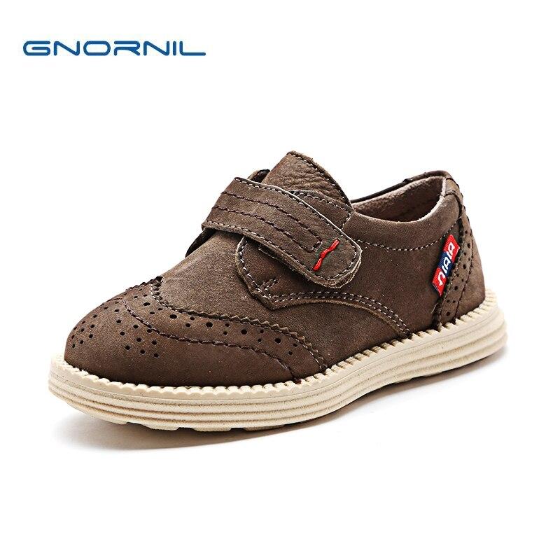 2018 printemps enfants chaussures garçons chaussures en cuir de mode plat chaussures décontractées en cuir véritable enfant en bas âge bébé baskets enfants chaussures de Sport