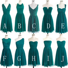 Real Bridesmaid Dresses Short Different Style Chiffon A Line Maid Of Honor  Dresses Wedding Party Dresses a85e5951a471