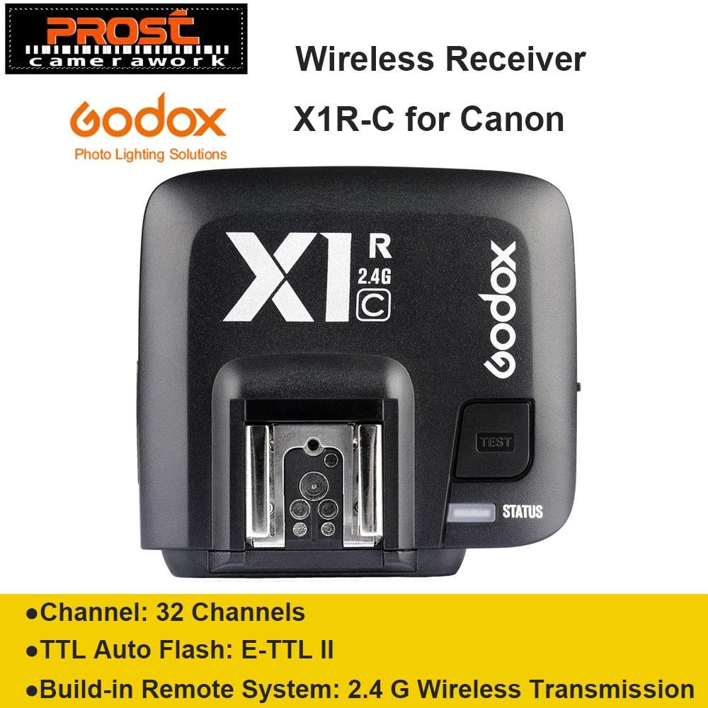 Godox X1C X1R-C TTL 2.4G անլար ստացող `Canon- ի շարք տեսախցիկների համար 1000D 600D 700D 650D 100D 550D 500D 450D 400D 400D 350D 300D
