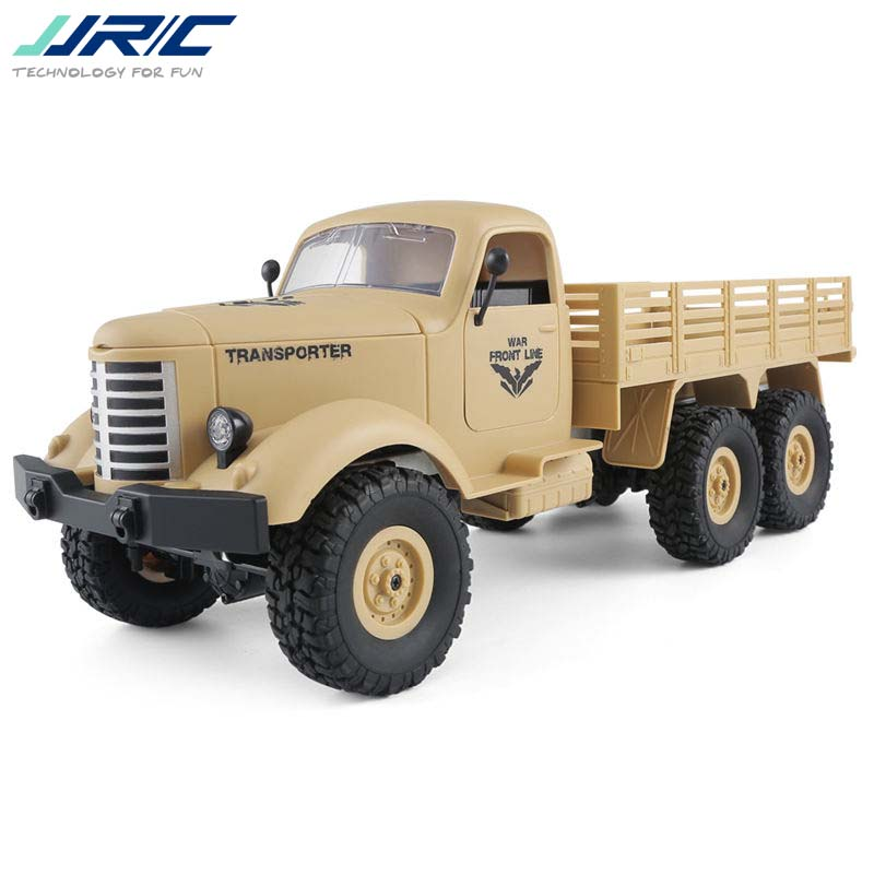 JJRC Q60 1/16 2.G 6WD Off-Road Military Trunk Crawler RC Car Remote Control Toys For Kids Children Birthday Gift Present 1 16 wpl 6wd crawler military trunk b 16 crawler remote control car model toy