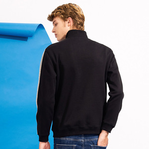 Image 4 - Pioneer camp retalhos zíper hoodies homens marca roupas de lã grossa outono inverno moletom masculino qualidade algodão awy702304