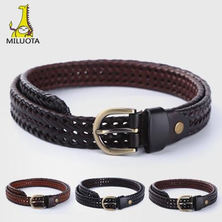 Miyota  Nuevo 100% cuero genuino mujeres Cinturón correa de calidad  superior hechos a mano para las mujeres vaca cinto feminino r1 1f61d6dda1a