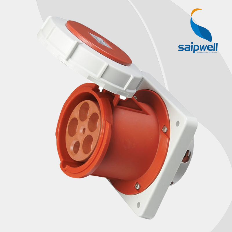 Wholesale Saipwell 5P (3P+N+E) 400V 125A High-current IP67 iec 60309-2 industrial socket industrial socket outlets SP1461 электрическая вилка 63а 3p n e ip67 abb 2cma166798r1000