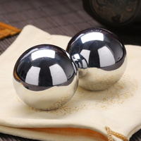 A pair of solid 50MM or 60MM bearing steel ball wear resistant anti impact hand ball exercise fitness steel ball W4 039
