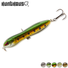 HuntHouse new fishing 9cm 70g fine quality Pencil catches Bass Pike lure Loopy snake head Holographic  floor darter